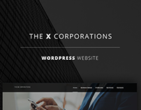 The X Corporations - Wordpress Website