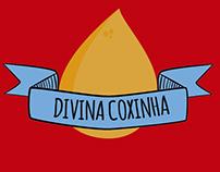 """Logotipo """"Divina Coxinha"""""""