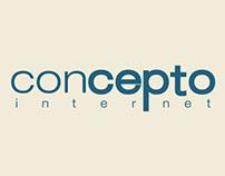 Concepto Internet - Sites e redes sociais