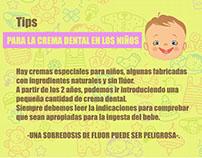 Consejos para el cuidado dental en los niños.