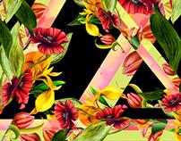 Estampa Movimento das Flores
