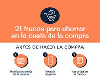 Infografía: 21 trucos para ahorrar en la compra