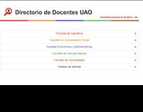 Directorio Docente de la Universidad Autónoma de Occ
