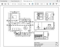Apartamento- Decoração de interiores e elevações