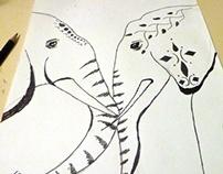 Elephants Tribal