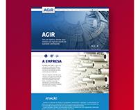 Cliente: AGIR - Criação de Layout e desenvolvimento.