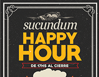 HAPPY HOUR SUCUNDUM FLYER
