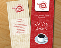 Coffe shop promotional brochure