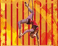 Postales gráficas - tema circo