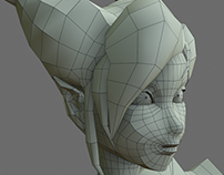 Character female for videogame model
