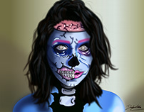 Vetorização - Foto Zumbi Pop-art Makeup - 22/04/18