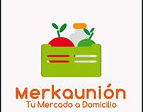 Diseño de logotipo y merchandising para Merkaunión