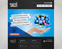 Landing Page - The Social Effect / Marketing