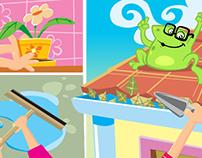 Personagem e ilustrações para VT contra a dengue