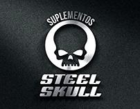 Logo elaborado para loja de suplementos Steel Skull.