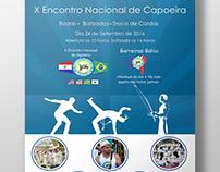 X Encontro Nacional de Capoeira - Cartaz