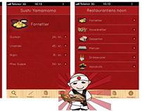 Sushi App Design -