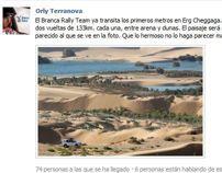 Dakar: a dos vueltas de la meta entre dunas de arena