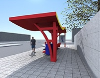 Parada de autobús Red Bull™ / Red Bull™ bus stop
