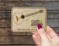 TARJETAS - Clases Artes Plásticas y Guitarra