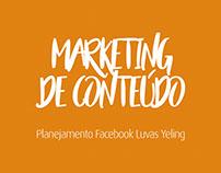 Planejamento Facebook Luvas Yeling