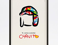 """Cartel en homenaje al """"Chavo del 8"""""""