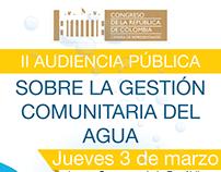 II Audiencia Pública Acueductos Comunitarios