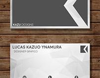 novo modelo de Cartão de visita da Kazu designs