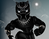 Mini Black Panther (Marvel) Ilustración Digital.
