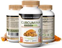 Etiqueta Suplemento Curcumina, MX.