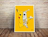 Pikachu - Esqueleto