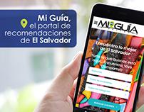 Diseños de post para Mi Guía El Salvador (El Salvador)