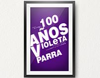 afiche para concurso de los 100 años violeta parra