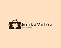 "Logotipo ""Erika Velez Fotografia"""