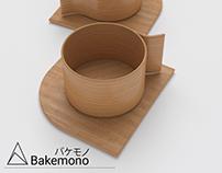 Wooden Cups. 3D Model.