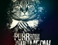 Cat Typographic Poster