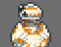 Star Wars BB-8 Droid Pixel Art Animation