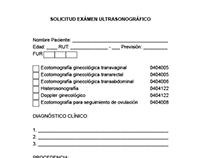 Solicitud privada de formulario c/hojas autocopiativas