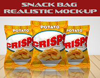 Snack Bag Realistic Mock-up