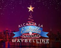 Alcanza la estrella de Navidad Maybelline