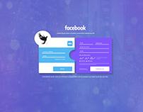 Re-design to facebook sign in UI/UX. Aulas de design.