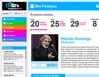 Sitio web 60 Aniversario Auditorio Nacional
