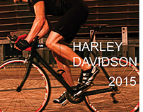 Promotional Flyer Harley Davidson Bike - School Project