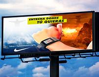 Campaña publicitaria para el reloj Nike Sportwatch GPS