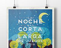 Cartel La Noche Más Corta Más Larga de Juegos 2016