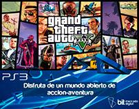 Publicidad de video juego GTA V