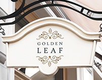 Identidade visual para Golden Leaf