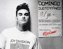 "Flyer festa ""Domingo Subterrâneo"" para Madame Satã"