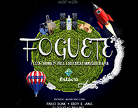 Cartaz festa Foguete Emporio Original #Design #Folder