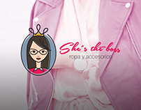 "Logo ""She´s the boss"" ropa y accesorios"